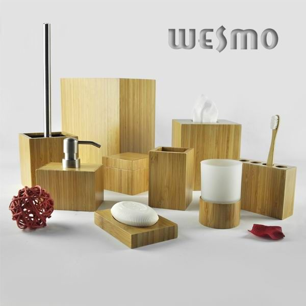 Bamboo bathroom set wbb0607a wesmo for Bathroom remodel 6x7
