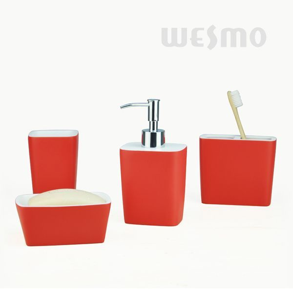 Banyo aksesuarlar wbp0822a wesmo for Accessoire salle de bain rouge