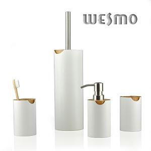 White Painted Bamboo With Natural Carbonization Bamboo, This Bathroom Set  Is Unique And Elegant, Which Is Also Easily Matchable For Different Kinds  Of ...