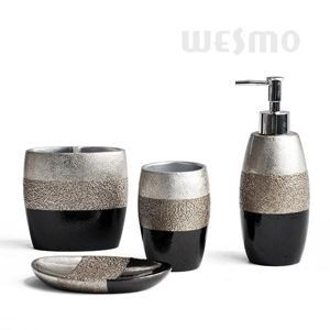 gold and silver bathroom accessories. the antique feel of this bath set calls forth difference in first sight. combination by silver, gold and black colors design spark a thought silver bathroom accessories