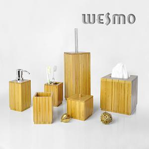 Bamboo bathroom set wesmo for D line bathroom accessories