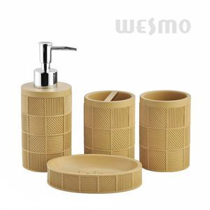 An Elegant Bath Set With Engraved Pattern In The Body. It Features A  Distinctive Design That Will Beautify Any Bathroom. There Are Three Colors  For Your ...