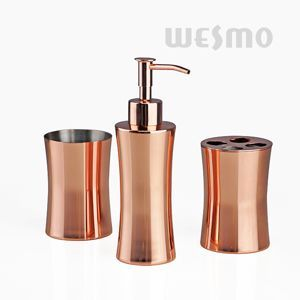 WBS0526E Rose Gold Electroplating Metal Bathroom Accessories